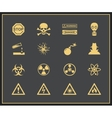 Danger and warning icons vector image