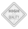 Label high quality icon gray monochrome style vector image