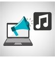 marketing digital music concept vector image