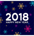new year 2018 colorful snow background vector image