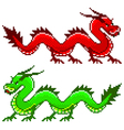 Pixel dragon isolated vector image
