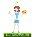 Sport Diet Healthy Way of Life vector image