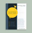 yellow circle brochure design corporate business vector image