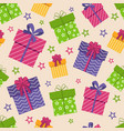 gift box seamless pattern boxes with gifts vector image vector image