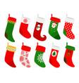 hanging christmas socks vector image