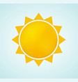 sun icon with rays abstract summer symbol vector image