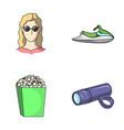 medicine cinema and other web icon in cartoon vector image