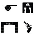 running icon set vector image