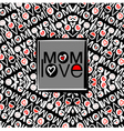 mom love pattern vector image vector image