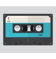 cassette audio flat design vector image vector image