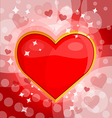 Bright background with heart 3 vector image