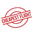 Cheapest Flight rubber stamp vector image