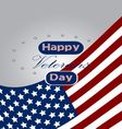 Colored background with text for veterans day vector image