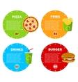 Fast Food Cafe Menu vector image