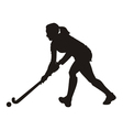 field hockey player vector image