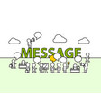message text work office with people vector image
