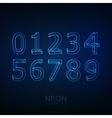 Neon 3D number set vector image