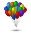 seven balloons in the colors of the rainbow vector image