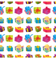 various gift boxes vector image