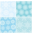 Four winter seamless backgrounds vector image vector image