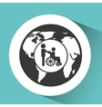 symbol icon disabled wheel chair vector image