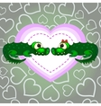 Crocodiles In Love Valentines Day vector image