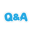 Questions and answers design vector image vector image