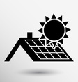 solar panels roof icon button logo symbol concept vector image