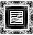 Grunge brush seamless frames strokes pattern vector image