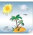 summer holliday doodles vector image