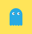 blue toy ghost in flat style vector image