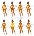 Body Types and Swimwear vector image