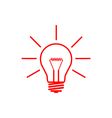 bulb red vector image
