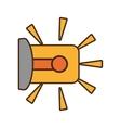 cartoon warning alarm alert security system work vector image
