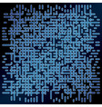 Dark blue background with motion dotted vector image