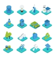 Ecology Isometric Icons vector image