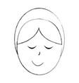little jesus baby manger character vector image