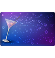 martini glass banner vector image