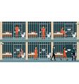 Prison inmates vector image