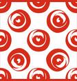Red circle shaped hearts vector image