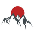 rock mountain silhouette wit vector image