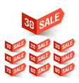 Sale percent sign vector image