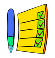 to do list icon cartoon vector image