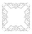 Vintage baroque frame scroll ornament vector image