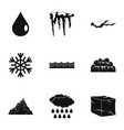 water icon set simple style vector image