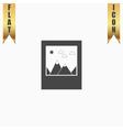 photo landscape web icon vector image