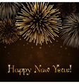 Happy New Year firework background vector image