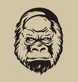 gorilla face vector image