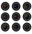 photography camera lens vector image vector image