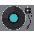 vinyl turntable flat design vector image vector image